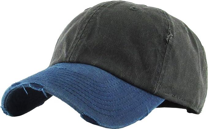 58651fda6de KBE-PG-Vintage BLK-NAV Pigment Vintage Washed Cotton Dad Hat Baseball Cap