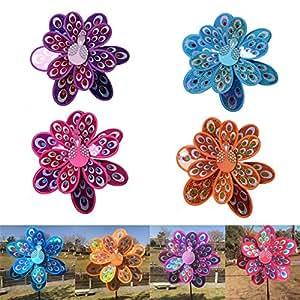 Senderismo. Colorido girasol molino, gira con el viento para casa jardín patio decoración  para niños parte