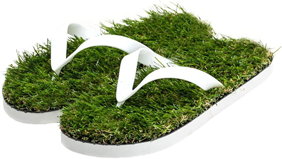 sandali e infradito con soletta in erba sintetica