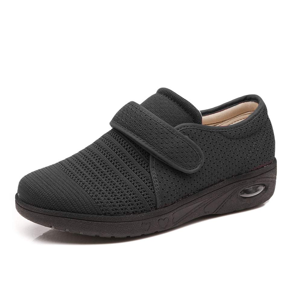 Women's Air Cushion Swollen Foot Shoes, Soft Adjustable Slippers for Diabetic Orthopedic Edema