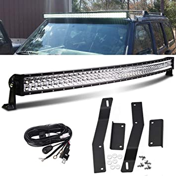 Epistar 42inch 240W LED Spot Flood Combo Light Bar Fit Wrangler Vehicle RZR 23/'/'