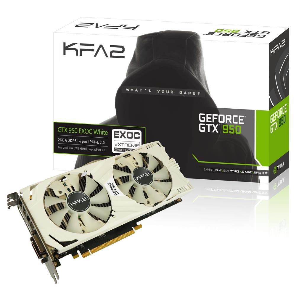 GALAX GeForce GTX 950 EX OC White 2GB GeForce GTX 950 2GB ...
