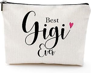 Best Gigi Ever -Makeup Bag- Birthday | Christmas | New Gigi,Gigi Gifts for Grandma, Funny Gigi Birthday Gifts, Christmas Gifts for Gigi - Grandma Gifts from Granddaughter, Grandson - New Grandma