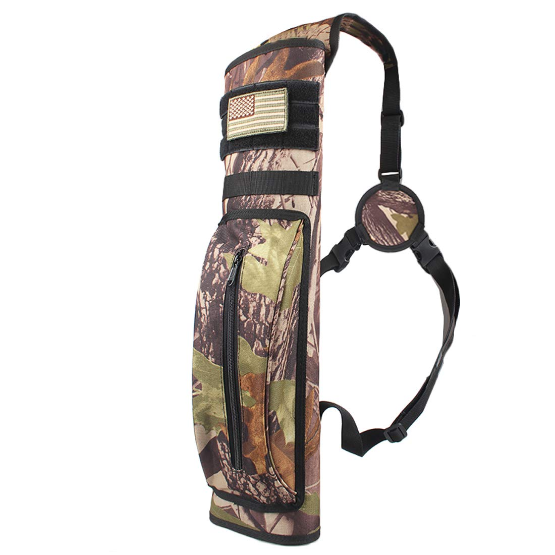 KRATARC Archery Multi-Function Back Arrow Quiver Shoulder Hanged Target Shooting Quiver for Arrows (Camo (for Right-Handed)) by KRATARC