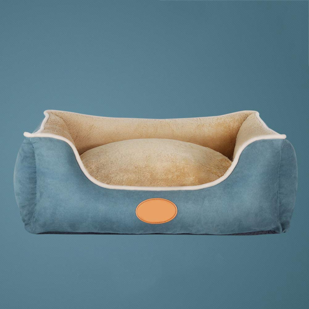 A Large A Large Gperw Washable Dog Bed For Large Medium Small Dog, Soft Cozy Non-Skid Suede Pet Nest Four Seasons Universal Pet Mat bluee Non Slip Cushion Pad (color   A, Size   Large)