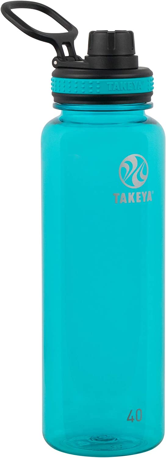 Takeya Tritan Sports Water Bottle with Spout Lid, 40 oz, Ocean