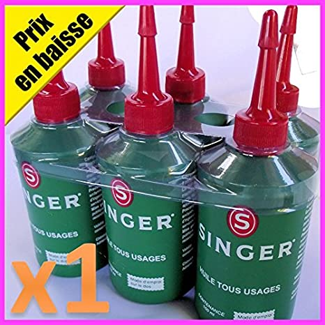 Singer especial aceite lubricante para máquina de coser & enhebra y todas las partes mecánicas de