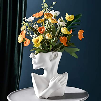 Innen Sukkulenten Blume Topf Kopf Pflanzer Vase Harz Kleine Pflanze Topf