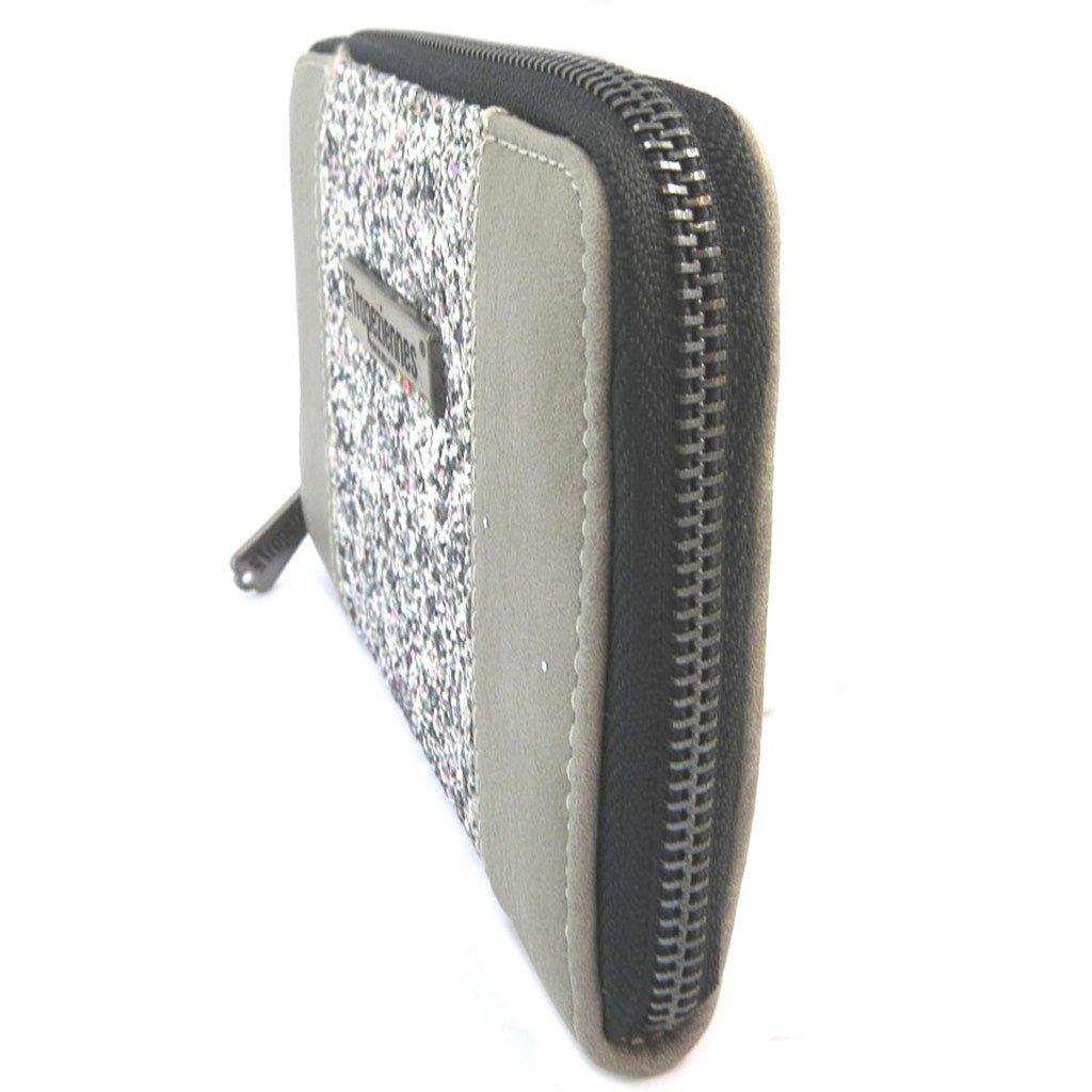 - Porte-monnaie zipp/é Les Trop/éziennes gris paillettes Les Trop/éziennes P3190 17x11.5x2 cm