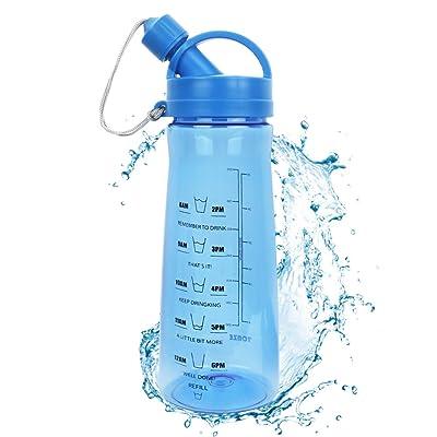 1L Sports Bouteille D'eau 1 Litre Bouteille D'eau En Plastique avec Filtre Protéine Shaker Bouteille pour Gym Course Randonnée Camping