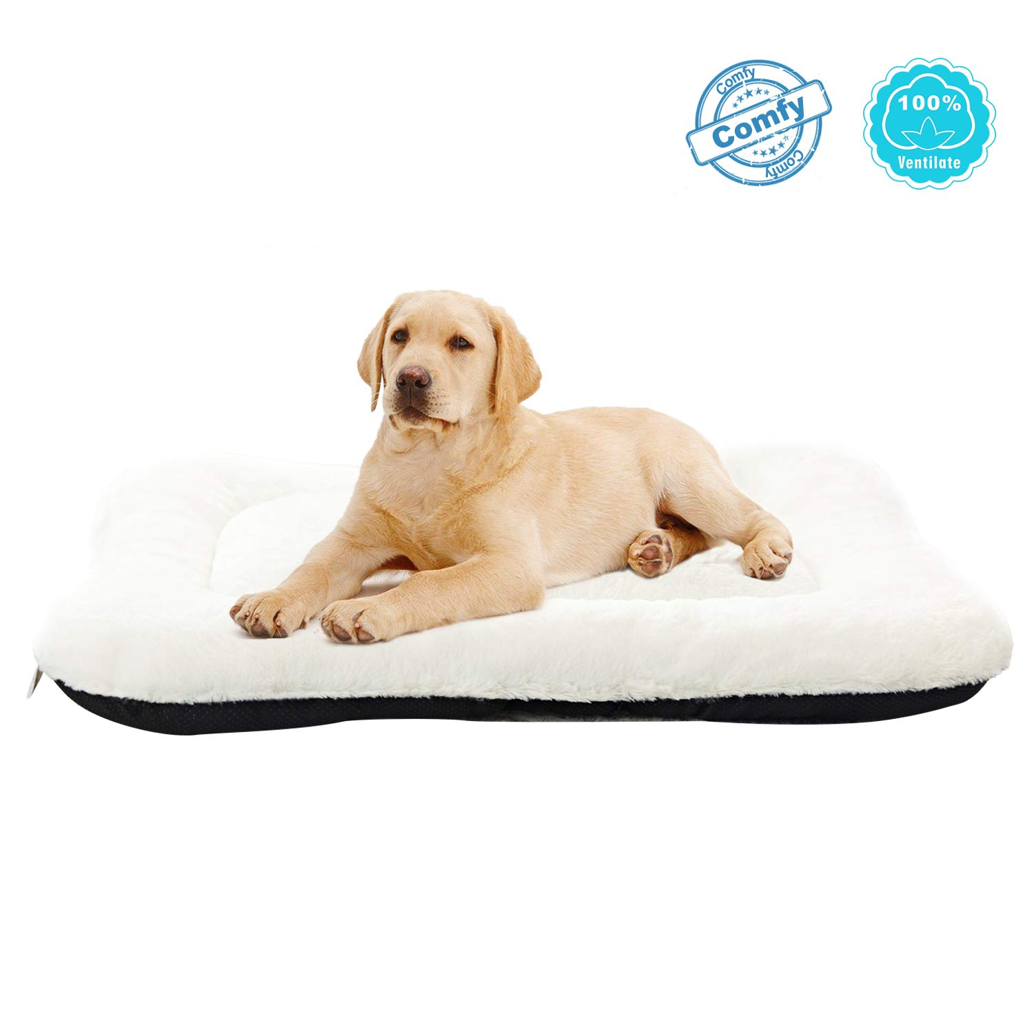 ANWA Dog Bed Pet Cushion Puppy Bed Crate Bed Mat Soft Durable Cozy for Medium Dogs