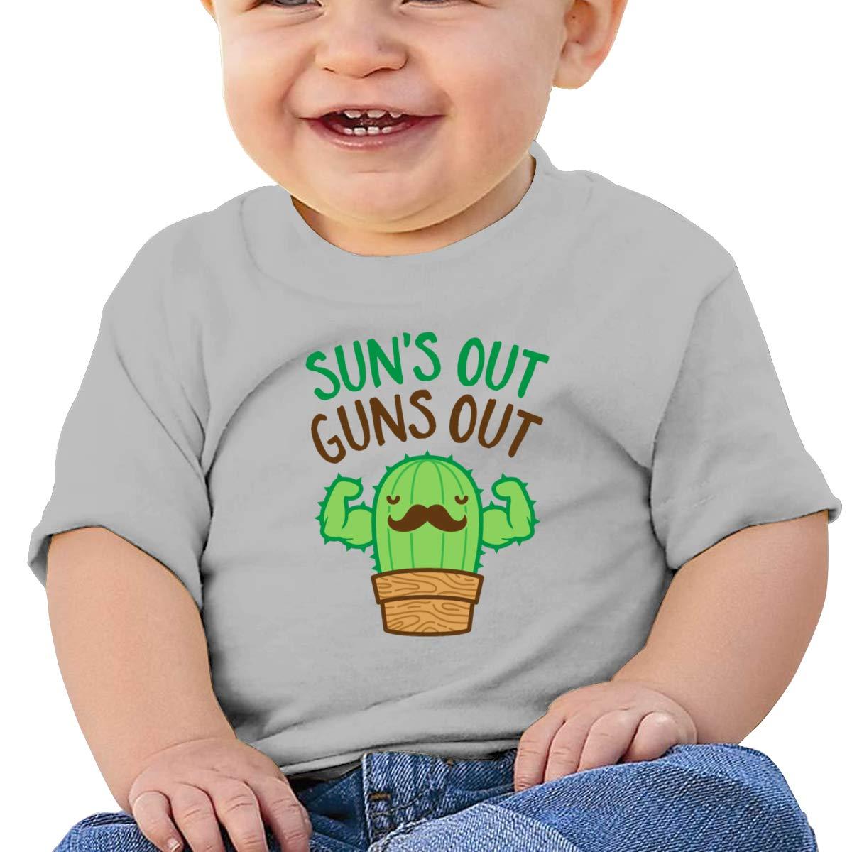 Suns Out Guns Out Infan Short Sleeve Shirt Girls Birthday Gift