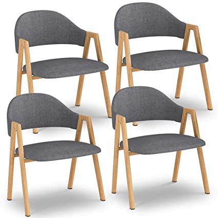 Attirant LITTLE TREE Dining Chairs, Modern Kitchen Chairs Set Of 4 With Padded Seat  And Solid