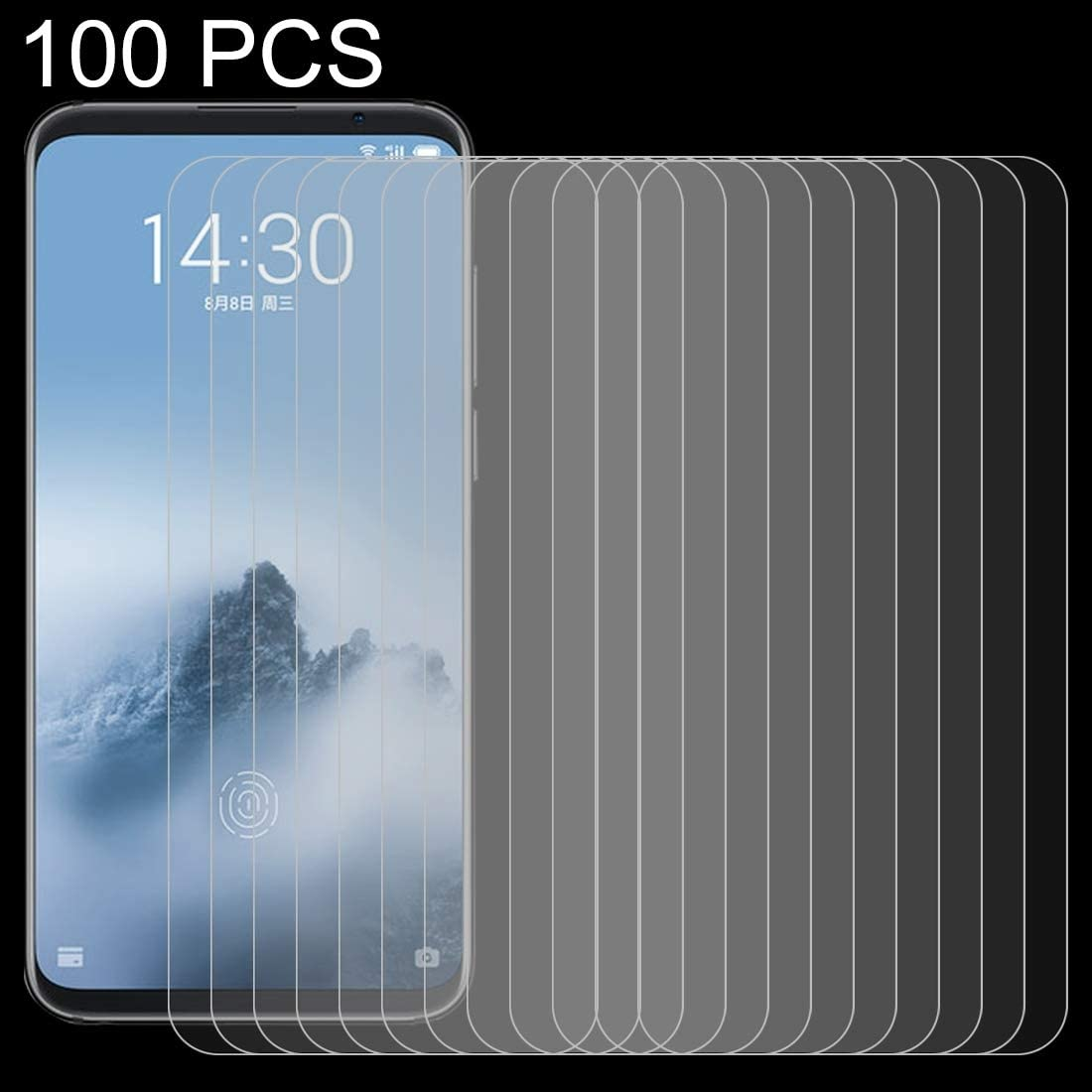 Ruanmaoshi Cell Phone Accessory 100 PCS 0.26mm 9H 2.5D Tempered Glass Film for Meizu 16 Phone Screen Protectors