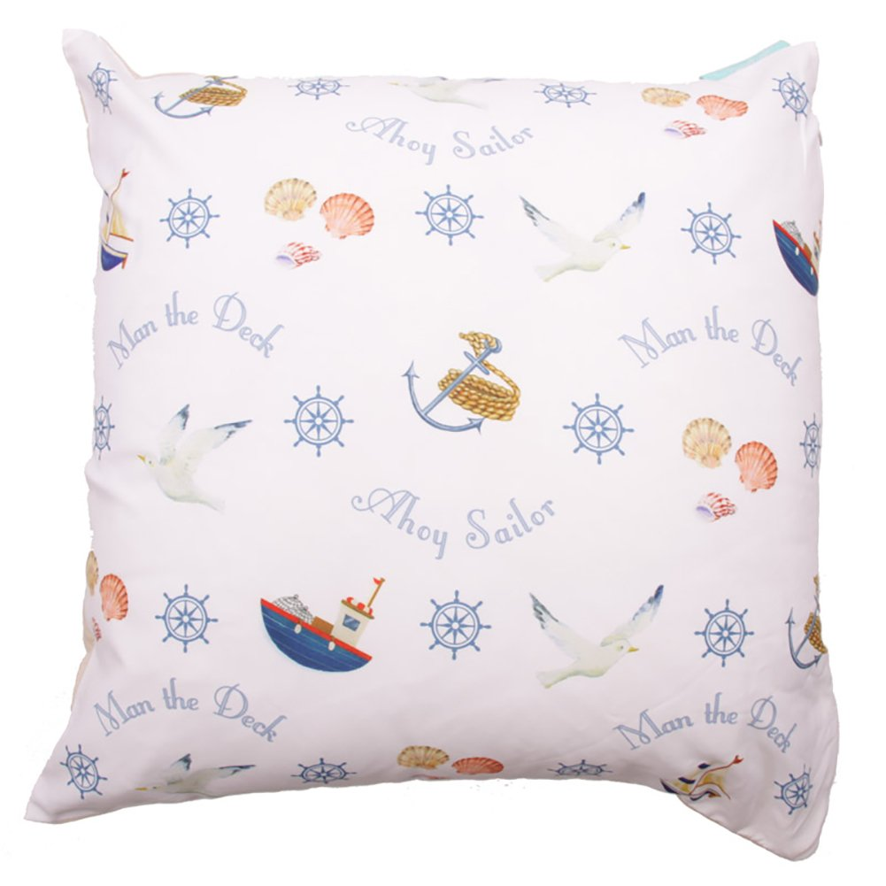 Jan Pashley Nautical Printed Cushion Cover Gifts, and, Cards Wedding, Gift, Idea Occasion, Gift, Idea puckator