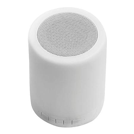 LDT Música lámpara de Mesa y Altavoz Bluetooth inalámbrico con luz ...