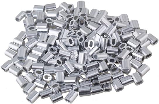 Pressklemme aus Aluminium Alu Klemme Drahtseilklemme Stahlseil Draht Drahtseil
