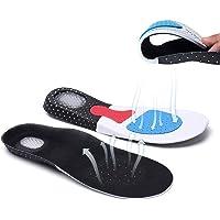AOLVO Plantillas para Zapatos de Gel Amortiguadoras, Plantillas Deportivas Transpirable para Hombre y Mujer, Tamaño Cortable