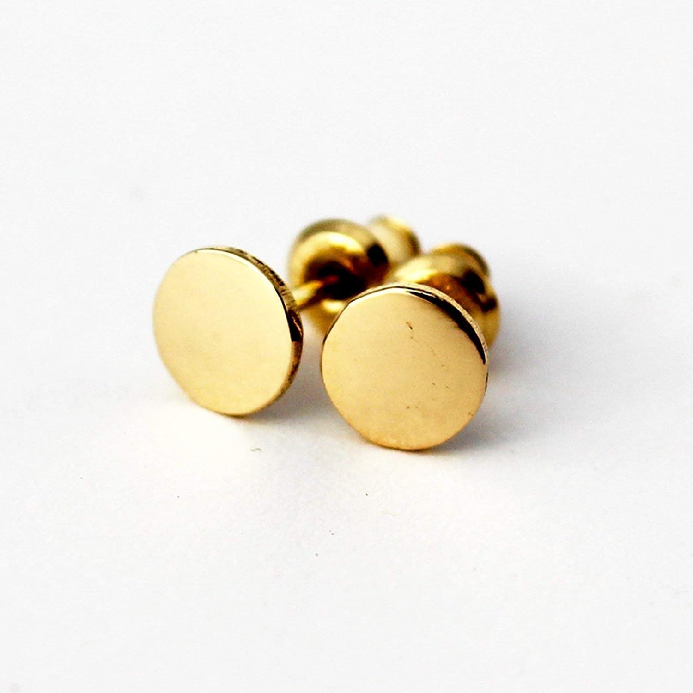Amazon.com  18k Gold Stud Earrings. Solid Gold Stud Earrings. 18k Gold Studs  6mm Handmade Artisan Jewelry  Handmade f1bf29713