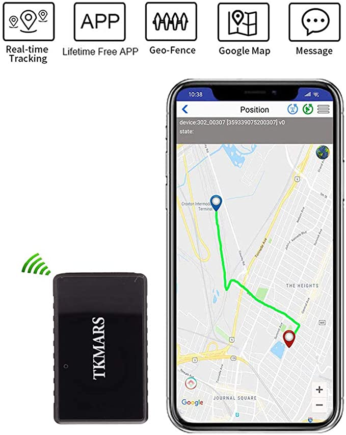 Hangang Mini GPS Tracker, Tkmars GPS para Coche Localizador en Tiempo Real Anti Loss espía con App Gratuita GPS Niños 1000 mAh Long Standby 15 Días (tk902): Amazon.es: Electrónica