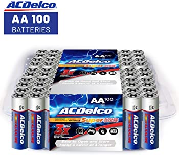 100-Pack ACDelco AC060 Super Alkaline AA Batteries