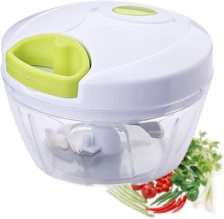 Compra WSKTOP Cocina Mini Chopper Food Pull Procesador - para verduras, frutas, ajo, hierbas, cebolla, cortar en rodajas Cutter Blender Tool (3 cuchillas) en Amazon.es