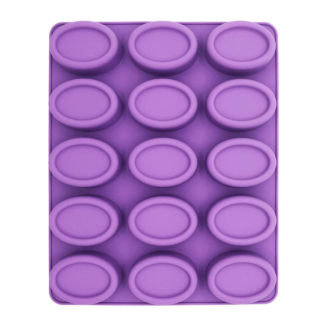 Molde de silicona para jabón, molde para mousse, molde cilíndrico, molde para horno, molde para tartas, molde para galletas, bandeja para cubitos de hielo ...
