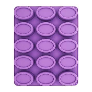 Molde de silicona para jabón, molde para mousse, molde cilíndrico, molde para horno