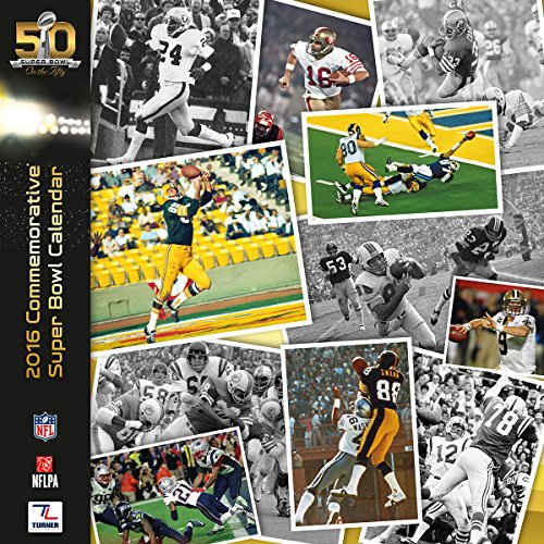 Turner 2016 Super Bowl 50 Commemorative Calendar, August 2015 - December 2016 (8011989)
