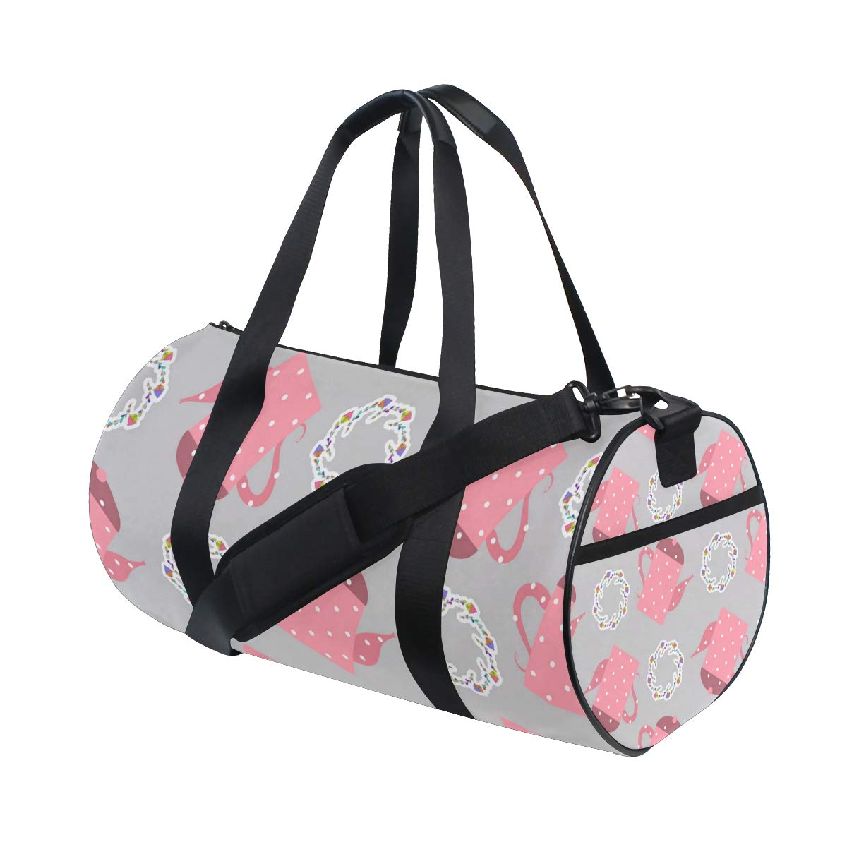 Gray Teapot Ceramic PictureWaterproof Non-Slip Wearable Crossbody Bag fitness bag Shoulder Bag