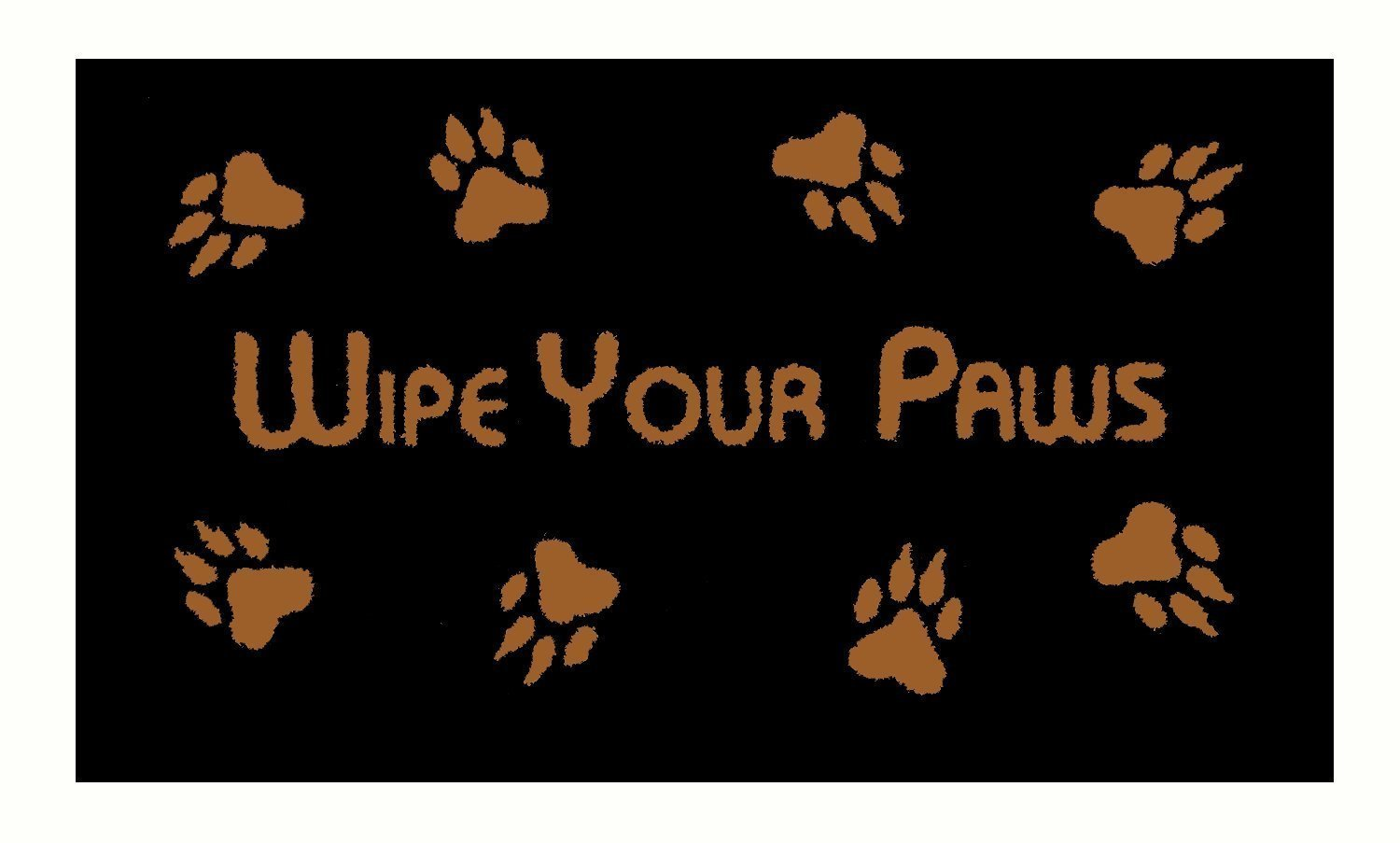 Animal Doormats With Wipe Your Paws Print Mats Non Slip Backing Indoor Outdoor Welcome For Home Mat (18x30in)