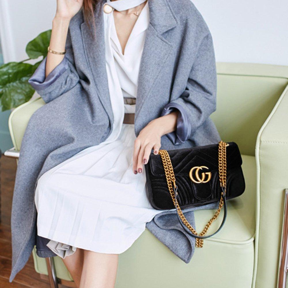 YUHEQI 2018 Baby Kleine Goldkette Gesteppte Umh/ängetasche Mini Cross Body Damen Handtasche Clutch Classic Abendtasche Vorsichtig lesen Wichtige Produktmerkmale