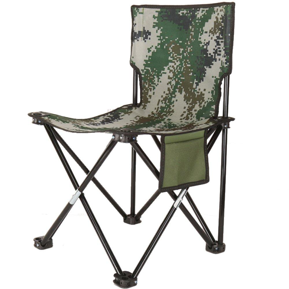 LDFN Portable Camping Chair Outdoor- Multifunktions-Stuhl Casual Canvas Eisen Klappstuhl,B