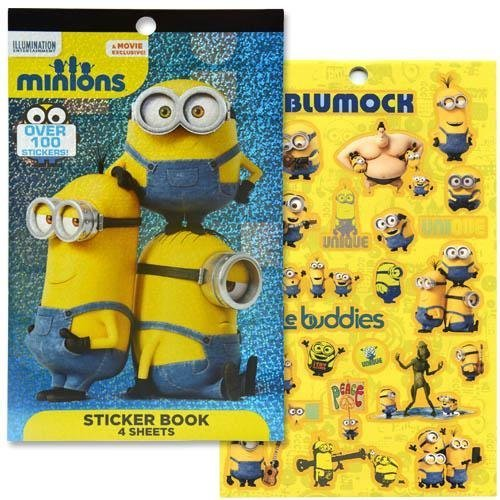 Minions 4 Sheet Foil Cover Sticker Pad, 200+ (Minion Stickers)