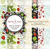 Gina K. Designs 6 X 6 Patterned Paper Pack - Berries and Vines