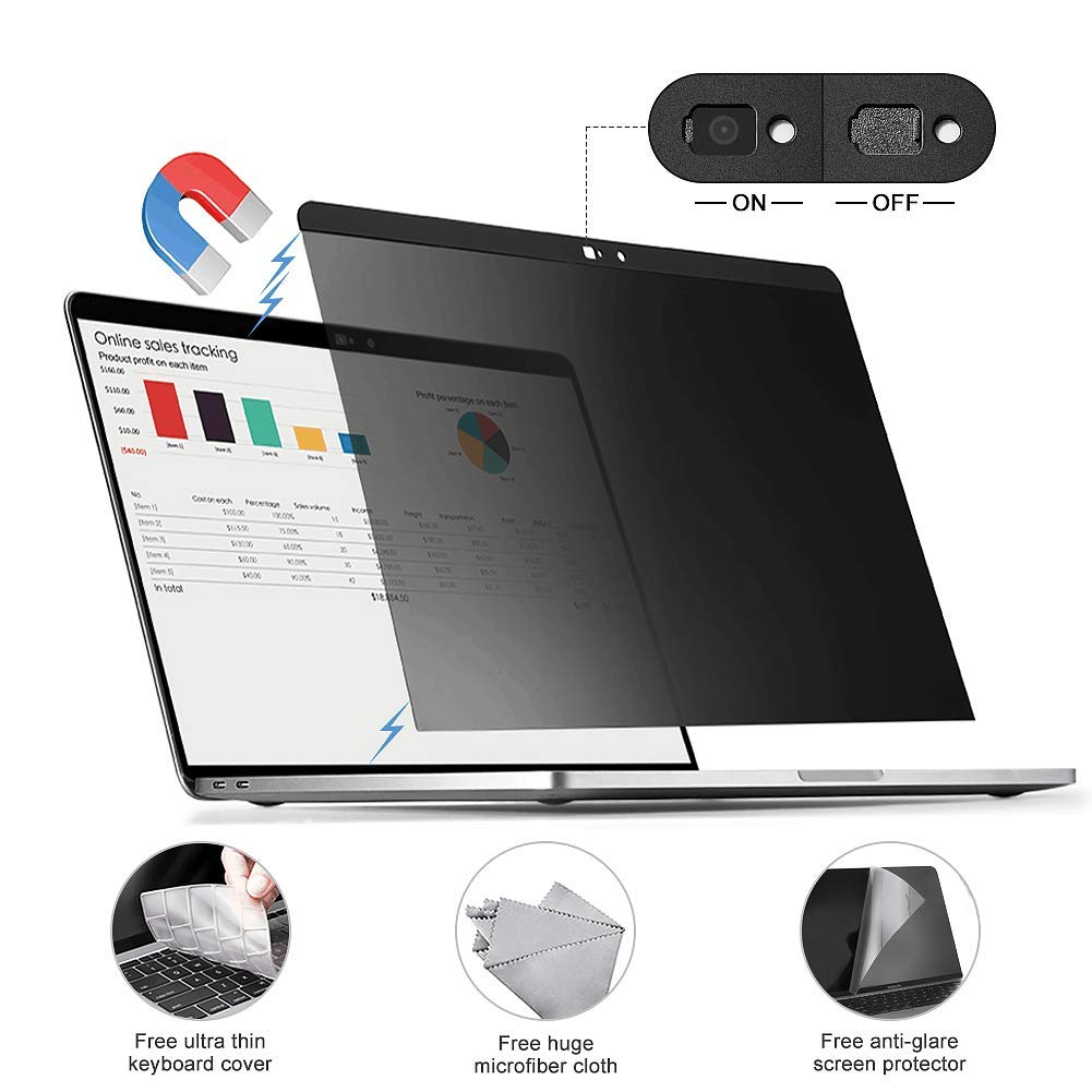 Amazon.com: Filtro de privacidad extraíble con fijación ...