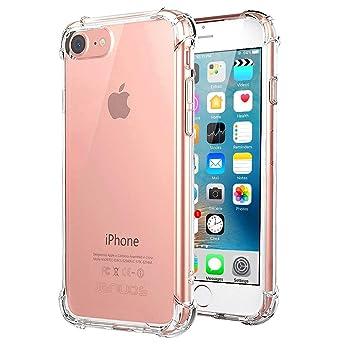Jenuos Funda iPhone 7, Carcasa Protectora de Silicona Transparente, con TPU Antigolpes, para iPhone 7 de 4.7