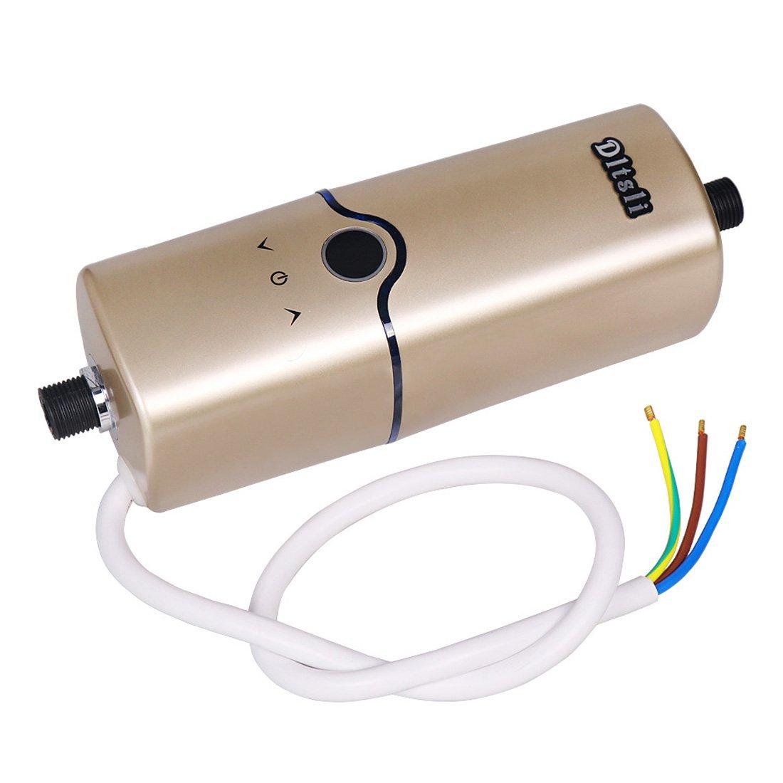 Chauffe-eau instantan/é chaud instantan/é de leau 240V 4 niveaux de puissance 5.5KW 5KW 4.5KW 3.5KW pour la couleur de salle de bains de cuisine dor