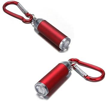 1pc más populares Mini llavero linterna LED táctica lámpara ...