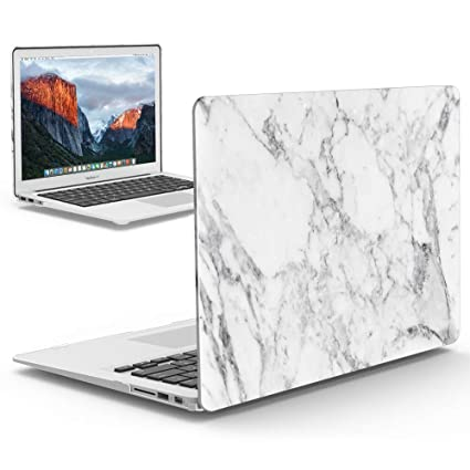 size 40 78306 bc63a iBenzer Old MacBook Pro 13 Inch case A1278, Soft Touch Hard Case Shell  Cover for Apple MacBook Pro 13 with CD-ROM, White Marble,MMP1301WHMB