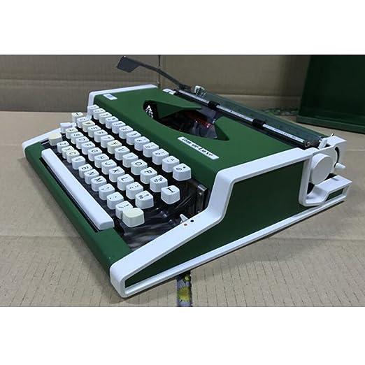 Máquina de escribir Vintage años 80 Vintage Antique Metal Versión Inglesa Normal Use Portable Typewriter: Amazon.es: Hogar