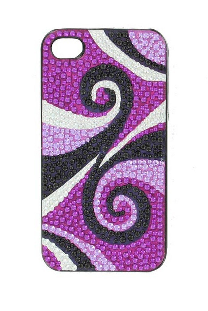 Nocona Swirl iPhone-4 Cover - Purple