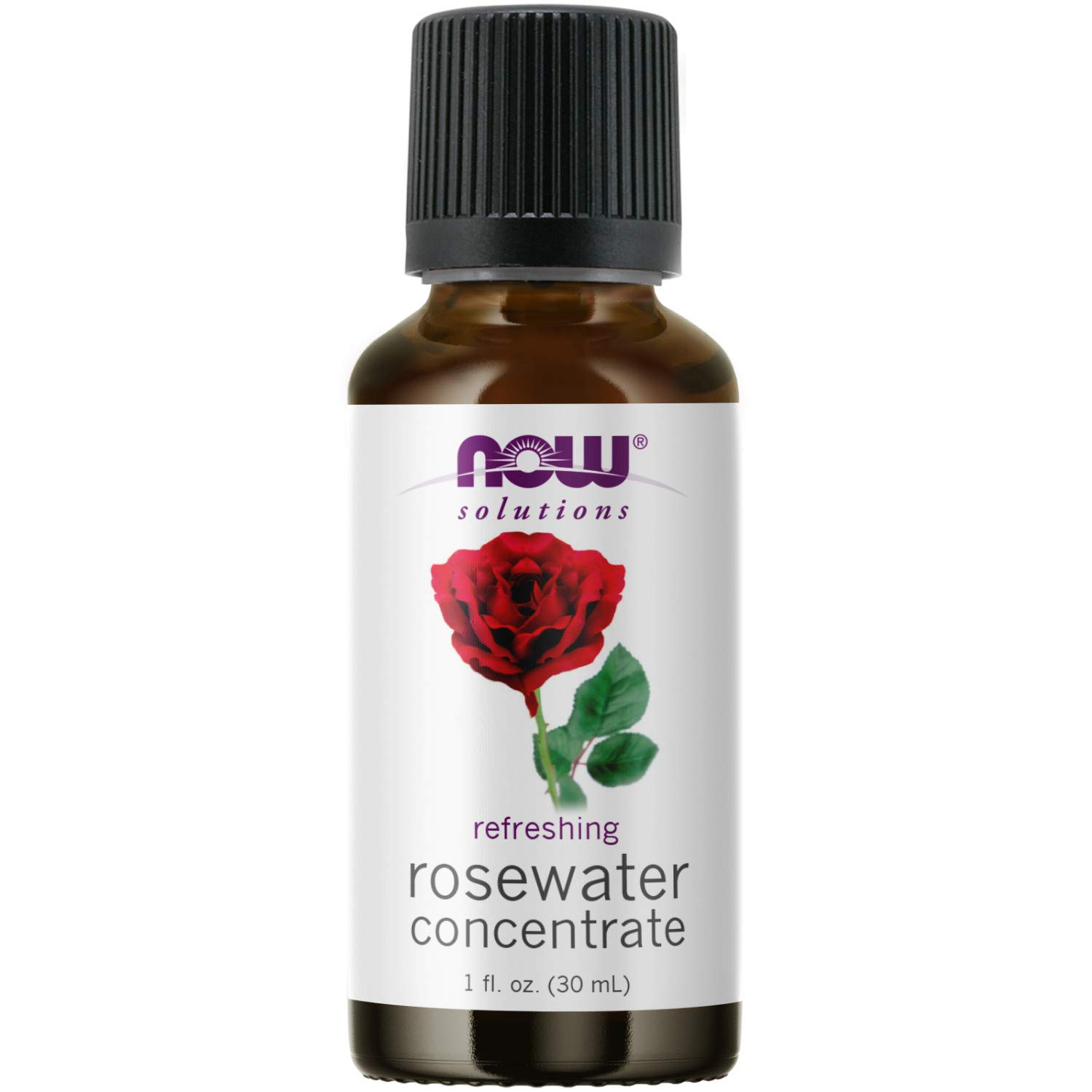 NOW Solutions, Rosewater Concentrate, Refreshing, Multi-Purpose Oil, Potpourri Scent, 1-Ounce