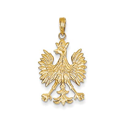 Black bow jewellery company 14k yellow gold polish eagle pendant black bow jewellery company 14k yellow gold polish eagle pendant aloadofball Choice Image