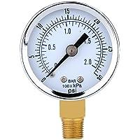 UEETEK Manómetro de Presión para el compresor