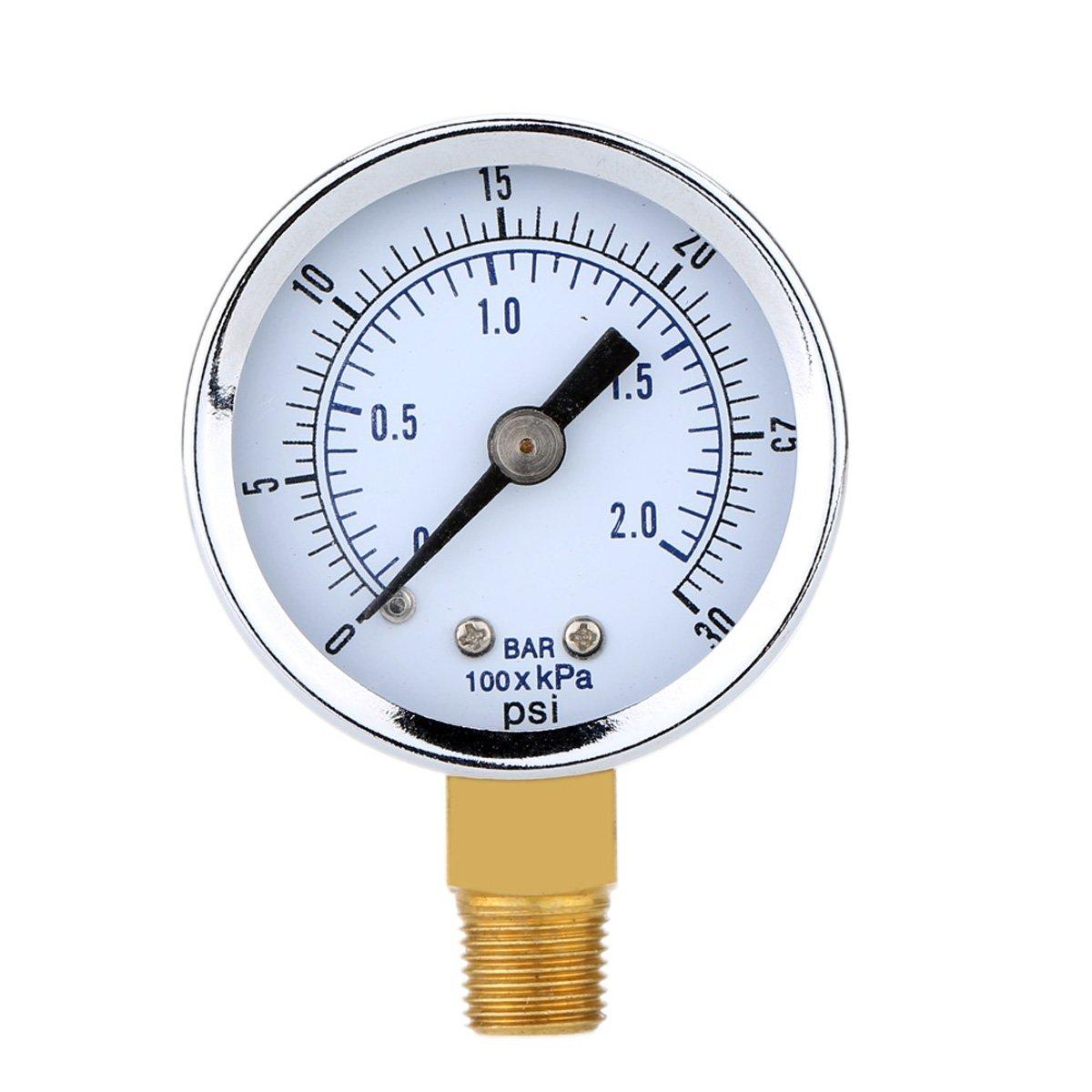 Manómetro de Presión para el compresor de aire Agua Gasolina Gas 0-30PSI