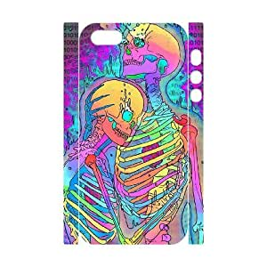 3D [Cool Skeleton] Skeleton Hugs Case For Iphone 6 4.7 Inch Cover {White}