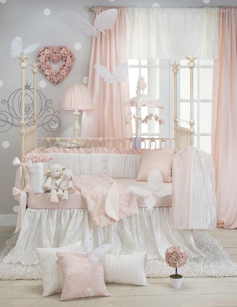 Amazon.com: Dulce patata Lil Princess Bumper, Rosa/Crema ...