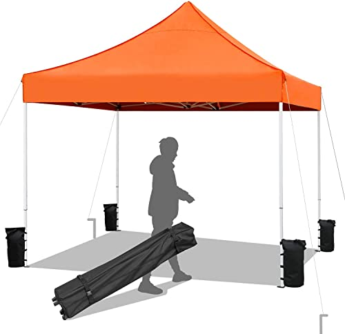 Devoko Patio Pop up Canopy Tent Outdoor Portable Commercial Instant Shelter Canopy Tent 10×10 FT
