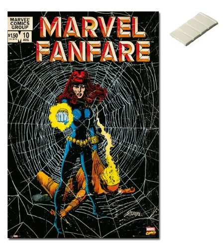 Bundle - 2 Items - Marvel Comics Black Widow Cover Poster -